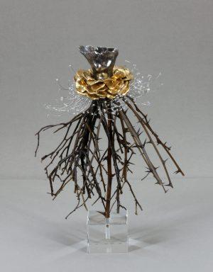 Estella Fransbergen - White Gold Torso with Yellow Gold Petals