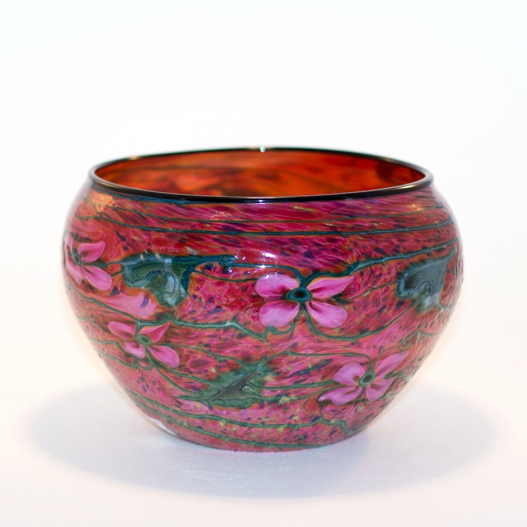 Dark Gold Ruby Cypriot Bowl
