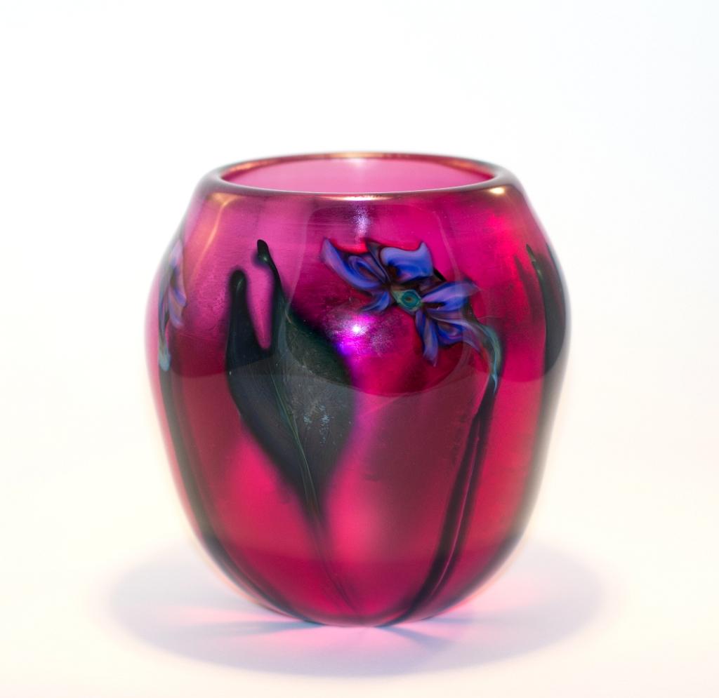 Fuchsia Vase with Lavender Multi-Flora