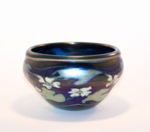Charles Lotton - Irridescent Cobalt Blue Bowl