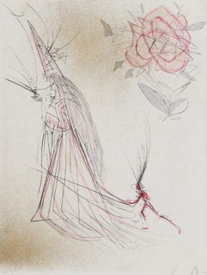 Salvador Dali - Magiciens - Spectre with Rose