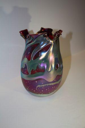 Charles Lotton - Selenium Red Lava Vase