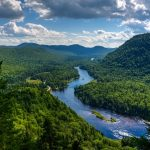 Panoramic-view-of-Jacques-Cartier-river-national-park-on-a-warm-and-sunny-summer-day-Quebec-Canada