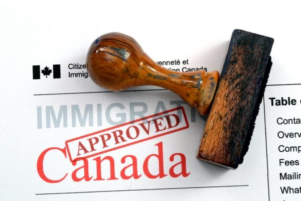 Immigration Approved Canada stamp