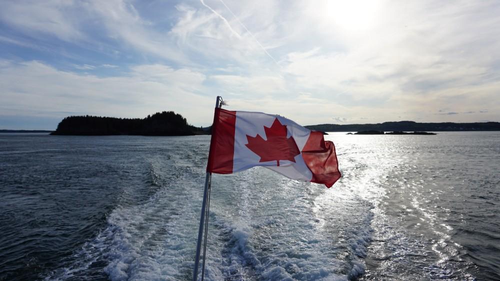 Canada flag lake