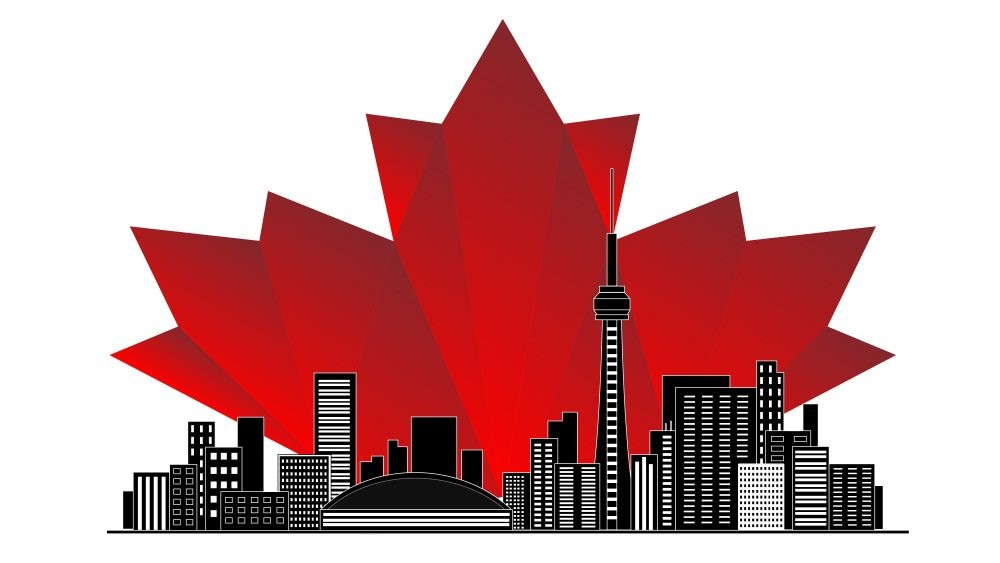 canada illustration toronto skyline