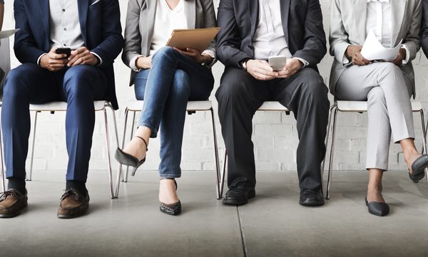 line-up for job interview