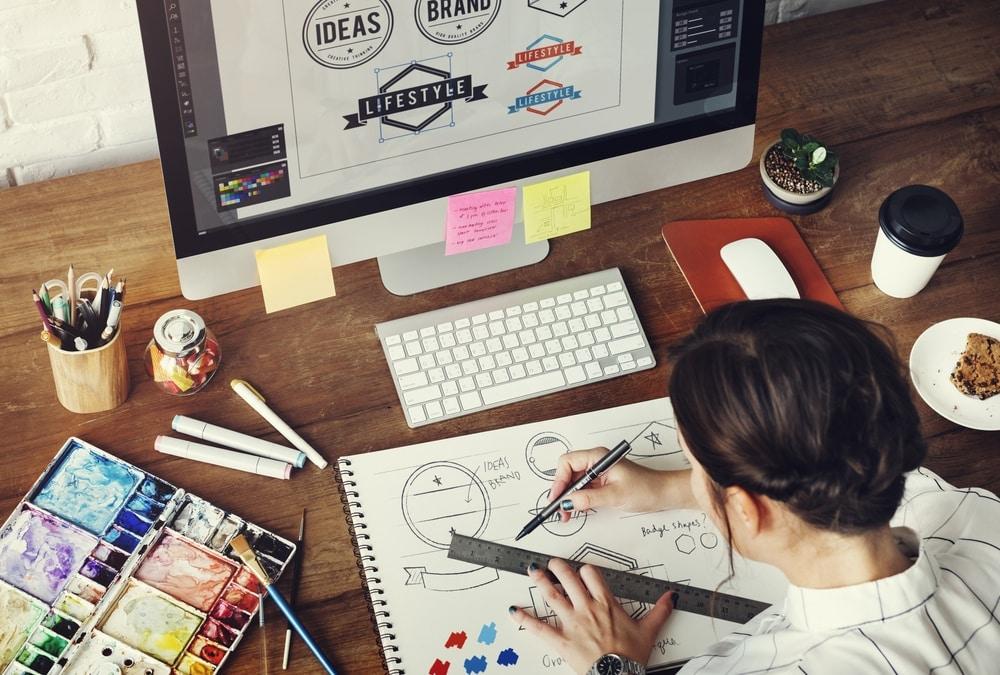 graphic-designer-working-at-her-desk