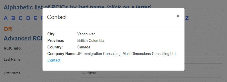 Registration number immigration consultant