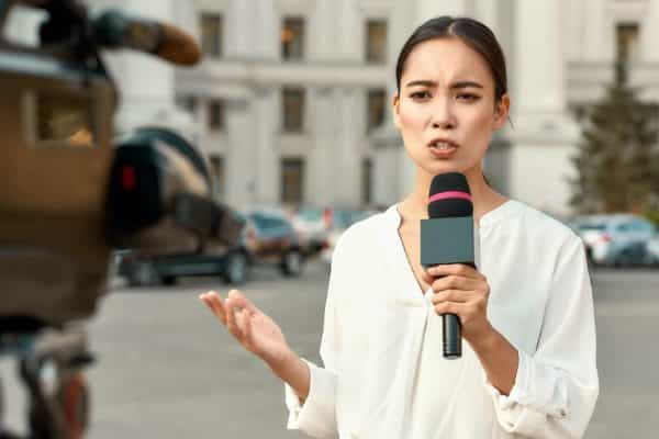 Woman reporter