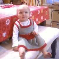 Knitted twirl dress
