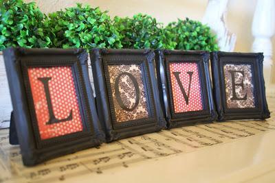 Framed LOVE for Valentines Day
