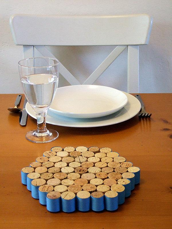 Wine cork trivets