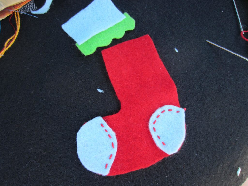 Another stocking ornament pieces are cut out