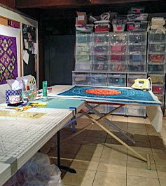 Tesi's work space for creating
