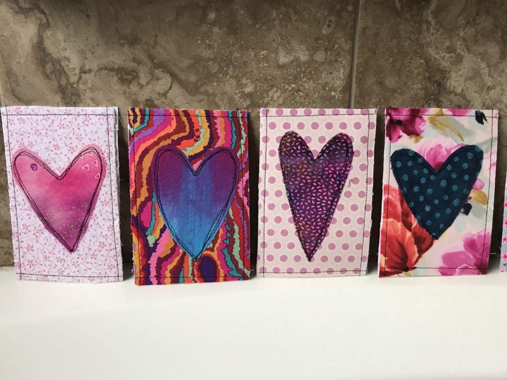 More finished Valentine's postcards