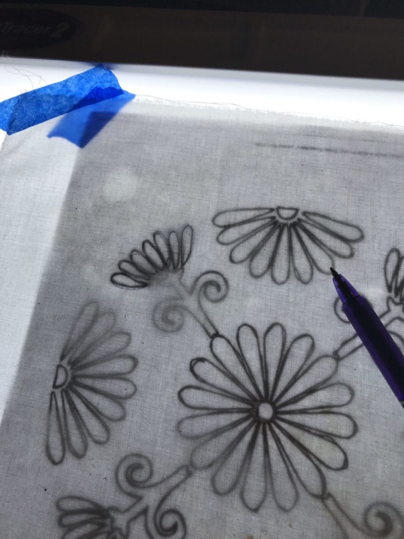 Embroidery Transfer with a Frixiron pen