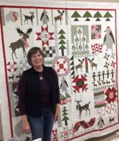 Barbara Eikmeier with Random Block Sampler quilt