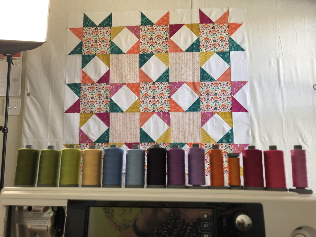 Design wall with quilt