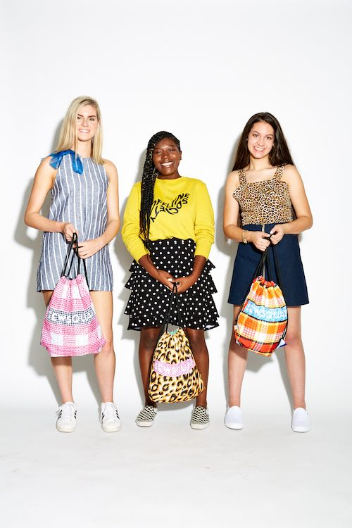 Models with some of the sewsquad patterns