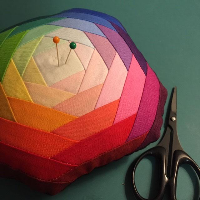 Color Wheel Pin Cushion