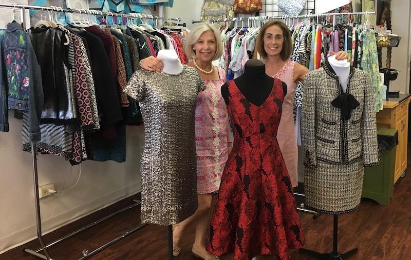 Sarah & Julie with their wardrobes