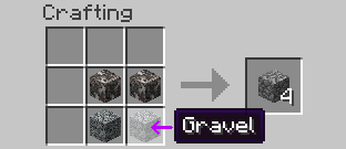 recipe cobblestone Mineralogy Recipes