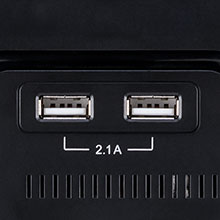 two usb charging ports