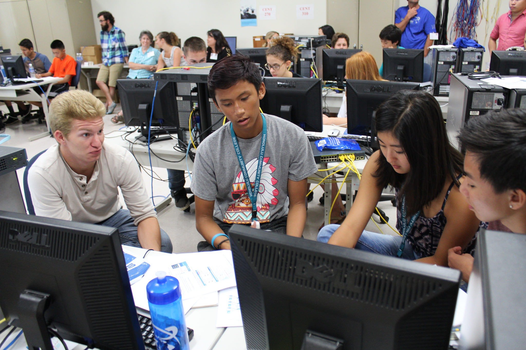 High school students participate in an NSA GenCyber Camp in Hawaii. The agency has done more to get K-12 and college students involved in cybersecurity. (Courtesy NSA)