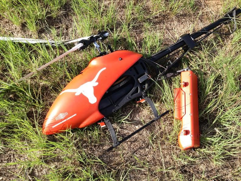 Downed drone in University of Texas experiment