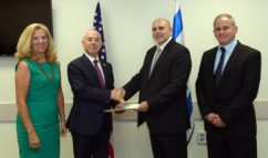DHS' Suzanne Spaulding and Alejandro Mayorkas meet with Israeli officials after signing a cyberthreat information-sharing agreement