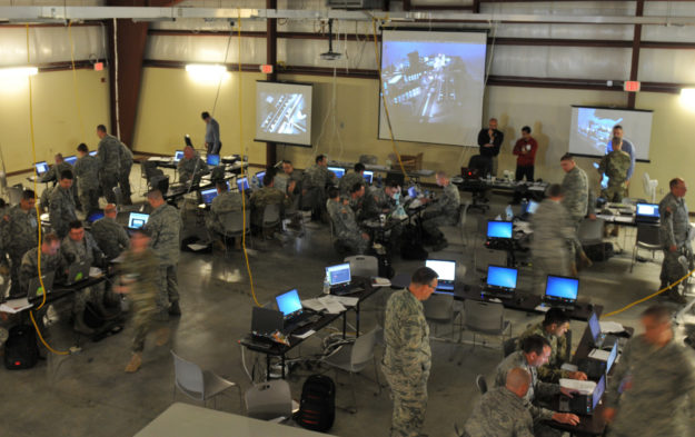 An Army National Guard cyber training exercise designed to develop and train cyber-capable forces including members of the Guard, Army Reserve, U.S. Marine Corps, Air National Guard and other federal agencies. (Photo by Sgt. Stephanie A. Hargett/Army Cyber/Flickr CC-BY-2.0)