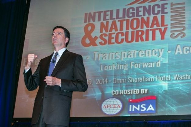 FBI Director James Comey speaking at the 2014 Intelligence and National Security Summit / (Photo: Intelligence and National Security Alliance)