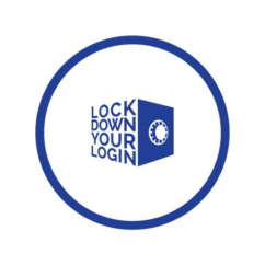 """The logo for the Obama administration's """"Lock down your login"""" campaign"""