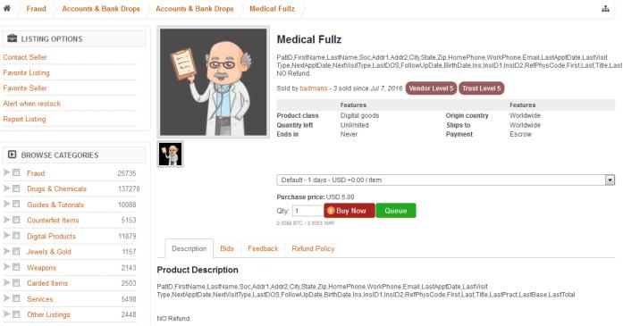 Prices for stolen health records plummeting on dark web - CyberScoop