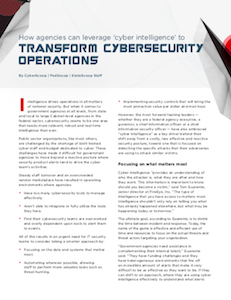 CyberScoop report cyber intelligence and cybersecurity operations