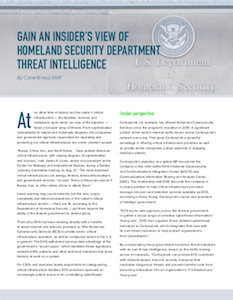 CyberScoop report on DHS view of threat intelligence