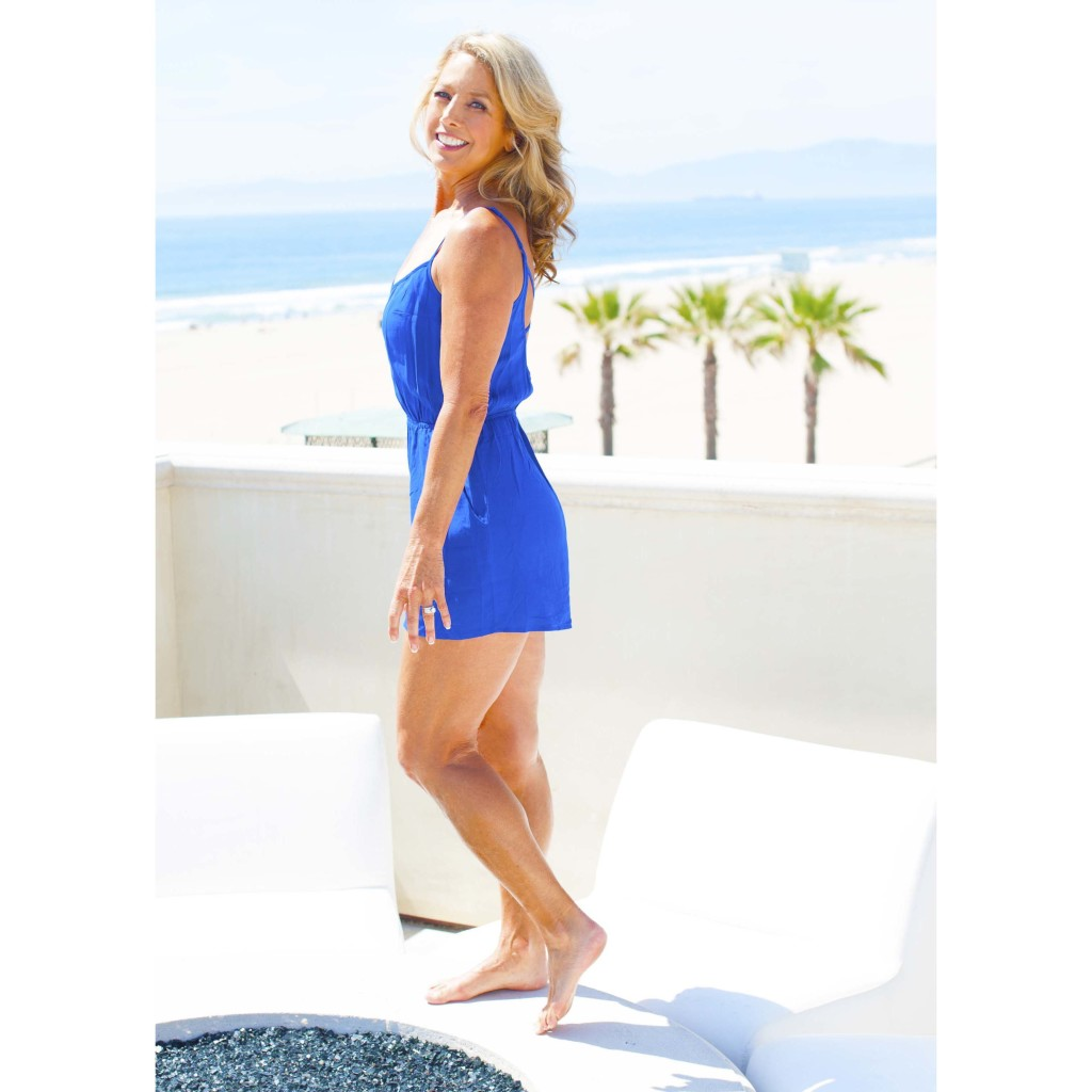 blue romper standing square crop