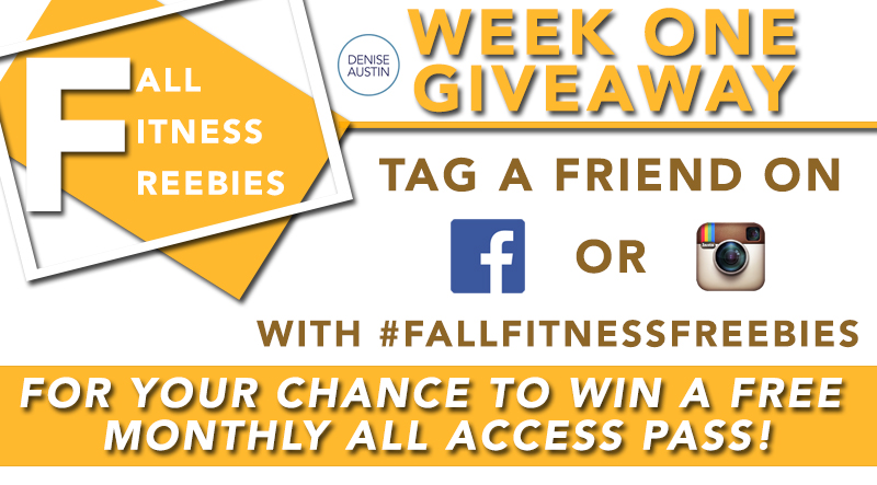 Denise Austin Fall Fitness Freebies Week 1 Giveaway