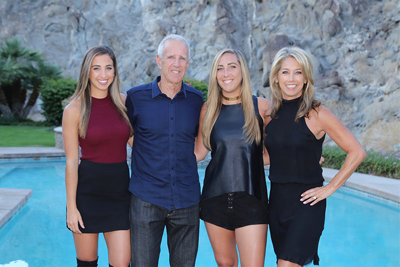 Denise Austin With Husband and Daughters