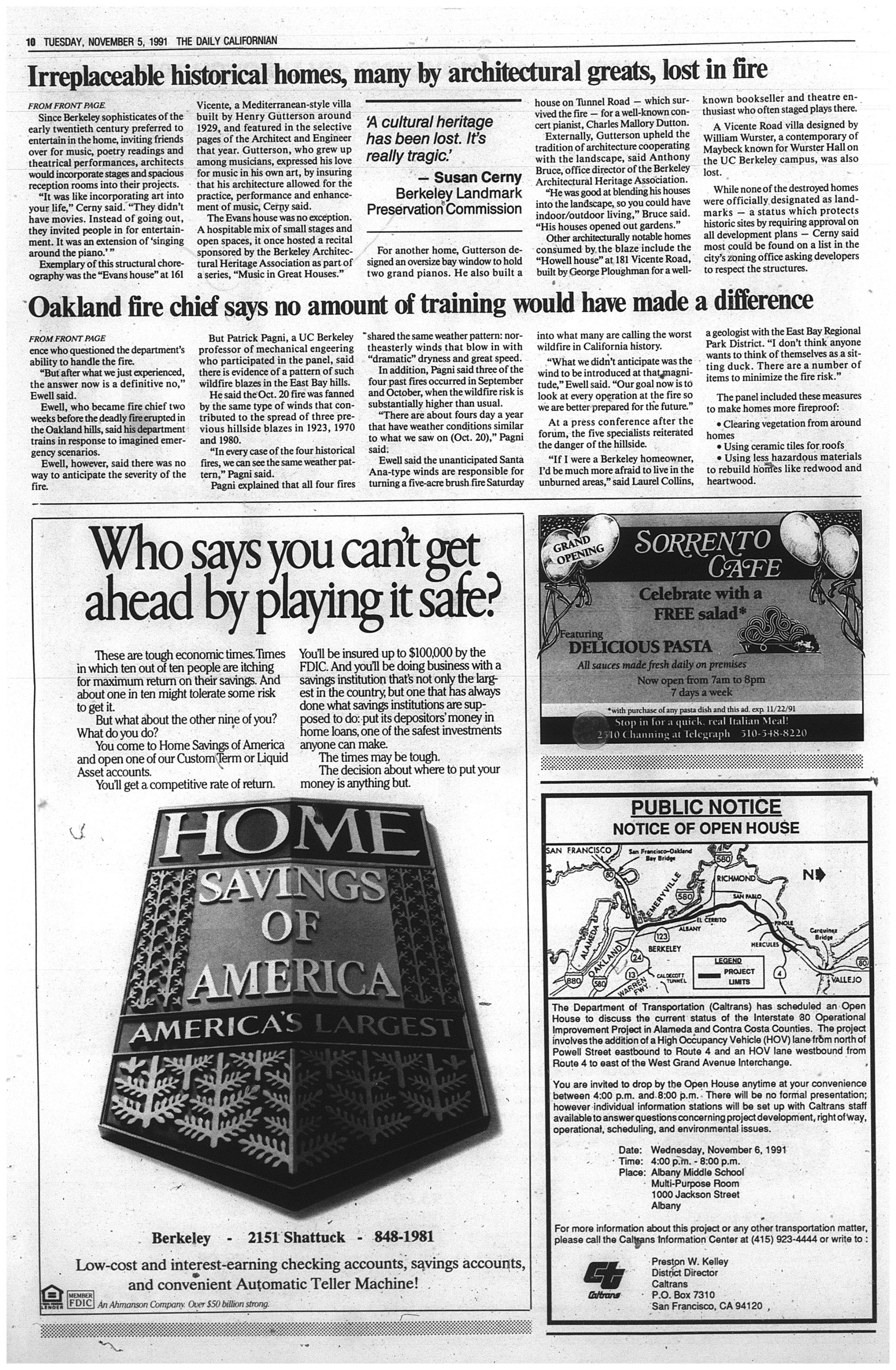 Nov  5, 1991   The Daily Californian Archive