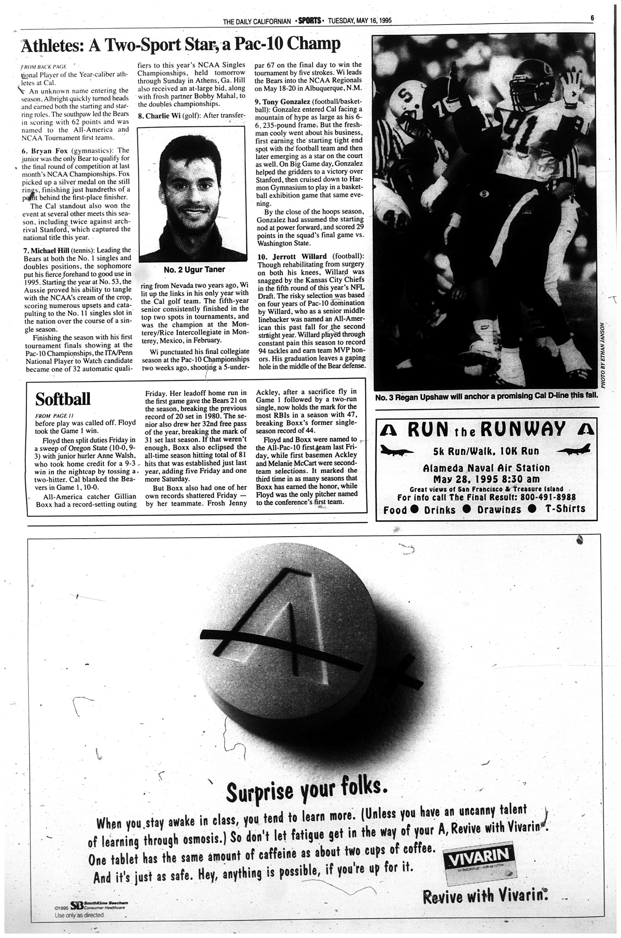 May 16, 1995 | The Daily Californian Archive