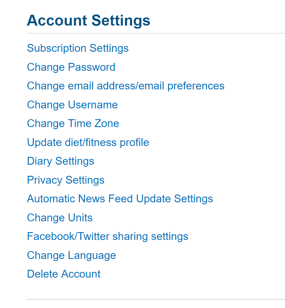 myfitnesspal macro settings
