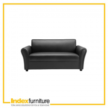 JAMES PVC 2.5 SEATER SOFA - BLACK