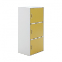 FASHION BOX/PLUS LOWCABINET3+DOOR YL/WT