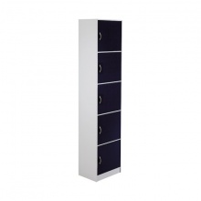 H-FASHION BOX/PLUS HIGH CABINET/5+DOOR BK/WT