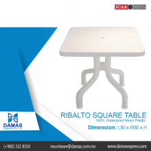 Ribalto Square Table