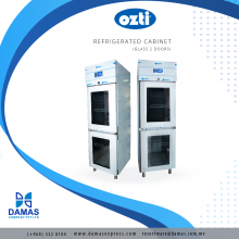 OZTI Double Glass Door Refrigerator