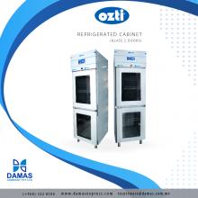 OZTI Double Glass Door Refrigerator