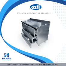 OZTI Counter 6 Drawer Refrigerator